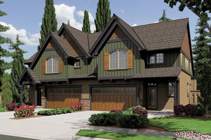 Dream House Plan - Craftsman Exterior - Front Elevation Plan #48-626
