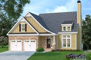 Craftsman Exterior - Front Elevation Plan #419-158