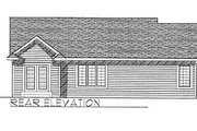 Traditional Style House Plan - 3 Beds 2 Baths 1295 Sq/Ft Plan #70-106 Exterior - Rear Elevation