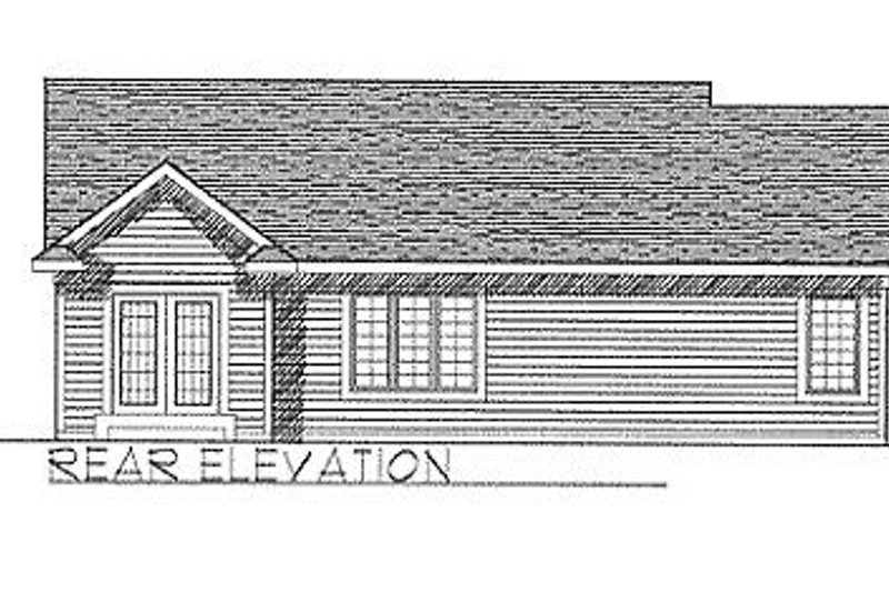 Traditional Exterior - Rear Elevation Plan #70-106 - Houseplans.com