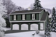 Colonial Style House Plan - 2 Beds 1 Baths 1032 Sq/Ft Plan #22-429