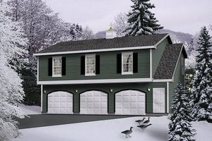 Colonial Exterior - Front Elevation Plan #22-429