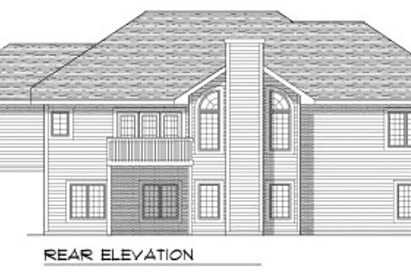 European Exterior - Rear Elevation Plan #70-782 - Houseplans.com