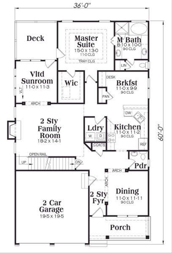 Traditional Floor Plan - Main Floor Plan #419-133