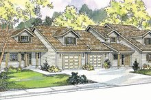 Dream House Plan - Traditional Exterior - Front Elevation Plan #124-810