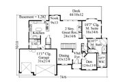 Traditional Style House Plan - 5 Beds 4.5 Baths 3556 Sq/Ft Plan #509-72 Floor Plan - Main Floor Plan