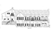 Craftsman Style House Plan - 3 Beds 3 Baths 2995 Sq/Ft Plan #437-112 Exterior - Rear Elevation