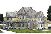 Victorian Style House Plan - 4 Beds 3.5 Baths 4053 Sq/Ft Plan #410-141 Exterior - Front Elevation