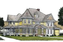 Dream House Plan - Victorian Exterior - Front Elevation Plan #410-141