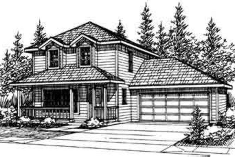 Farmhouse Exterior - Front Elevation Plan #124-315 - Houseplans.com