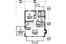 Cabin Floor Plan - Main Floor Plan Plan #25-4291