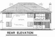 European Style House Plan - 3 Beds 2 Baths 2168 Sq/Ft Plan #18-9162 Exterior - Rear Elevation