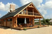 Log Style House Plan - 4 Beds 3 Baths 4206 Sq/Ft Plan #549-6 Photo