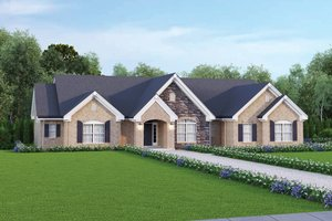 Home Plan Design - Traditional Exterior - Front Elevation Plan #57-322
