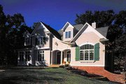 Colonial Style House Plan - 4 Beds 3.5 Baths 3489 Sq/Ft Plan #70-520 Exterior - Front Elevation