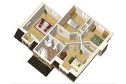 European Style House Plan - 3 Beds 1 Baths 1790 Sq/Ft Plan #25-4680 Floor Plan - Upper Floor Plan