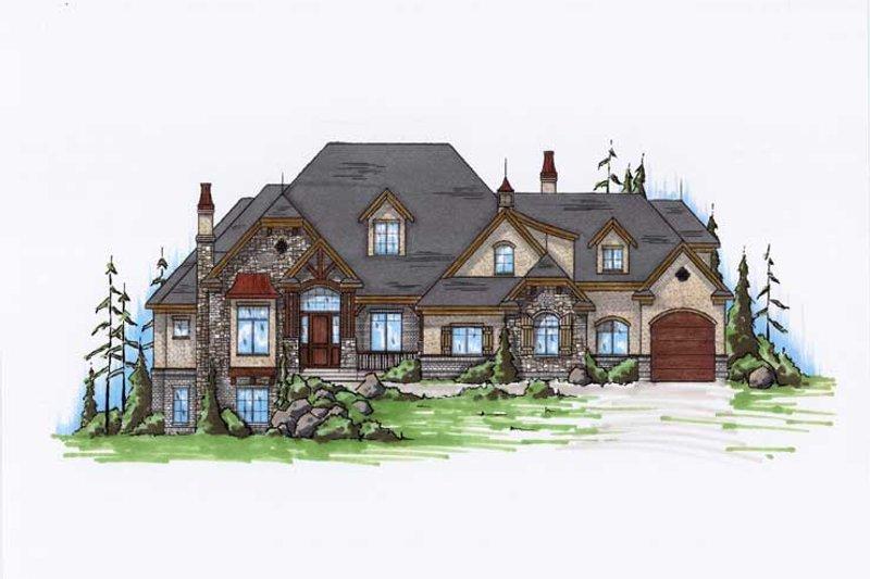 House Plan Design - European Exterior - Front Elevation Plan #5-439