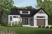 Craftsman Style House Plan - 2 Beds 1 Baths 1283 Sq/Ft Plan #23-2304 Exterior - Front Elevation