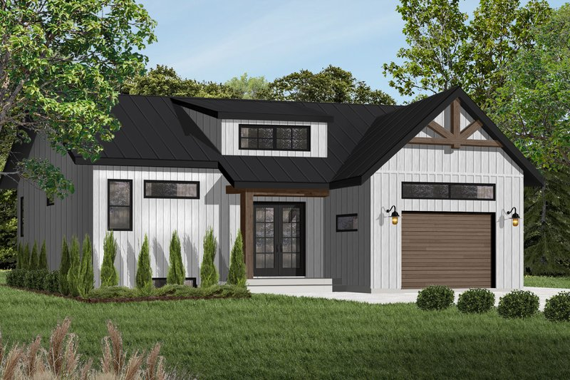 Craftsman Exterior - Front Elevation Plan #23-2304