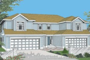 Traditional Exterior - Front Elevation Plan #96-203