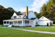Farmhouse Style House Plan - 4 Beds 4 Baths 3474 Sq/Ft Plan #923-108 Exterior - Front Elevation
