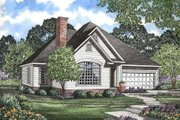European Style House Plan - 3 Beds 2 Baths 1654 Sq/Ft Plan #17-1008 Exterior - Other Elevation