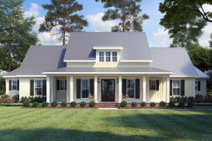 Dream House Plan - Farmhouse Exterior - Front Elevation Plan #1074-4