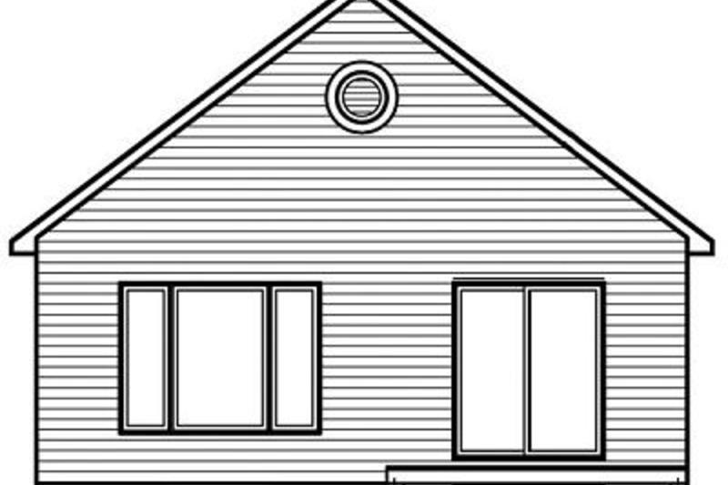 Modern Exterior - Rear Elevation Plan #23-695 - Houseplans.com