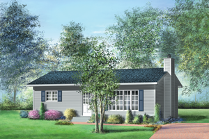 Ranch Exterior - Front Elevation Plan #25-4432