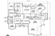 Colonial Style House Plan - 5 Beds 5.5 Baths 3471 Sq/Ft Plan #5-336 Floor Plan - Main Floor Plan