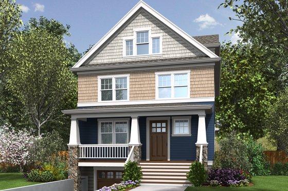 Craftsman Exterior - Front Elevation Plan #48-678