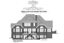 Dream House Plan - Southern Exterior - Rear Elevation Plan #56-218