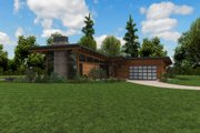 Contemporary Style House Plan - 3 Beds 2.5 Baths 2110 Sq/Ft Plan #48-1001 Exterior - Other Elevation