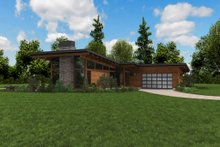 Contemporary Exterior - Other Elevation Plan #48-1001