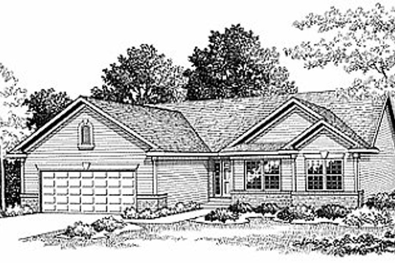 Traditional Exterior - Front Elevation Plan #70-119 - Houseplans.com