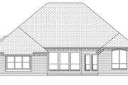 European Style House Plan - 4 Beds 3 Baths 2963 Sq/Ft Plan #84-632 Exterior - Rear Elevation