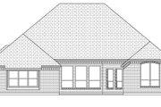 European Style House Plan - 4 Beds 3 Baths 2963 Sq/Ft Plan #84-632 Exterior - Rear Elevation