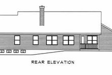 Ranch Exterior - Rear Elevation Plan #22-108