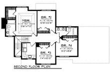 Craftsman Floor Plan - Upper Floor Plan Plan #70-1272