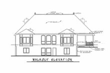 House Design - European Exterior - Rear Elevation Plan #20-2460