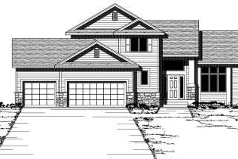 Traditional Style House Plan - 3 Beds 2.5 Baths 2196 Sq/Ft Plan #51-254 Exterior - Front Elevation
