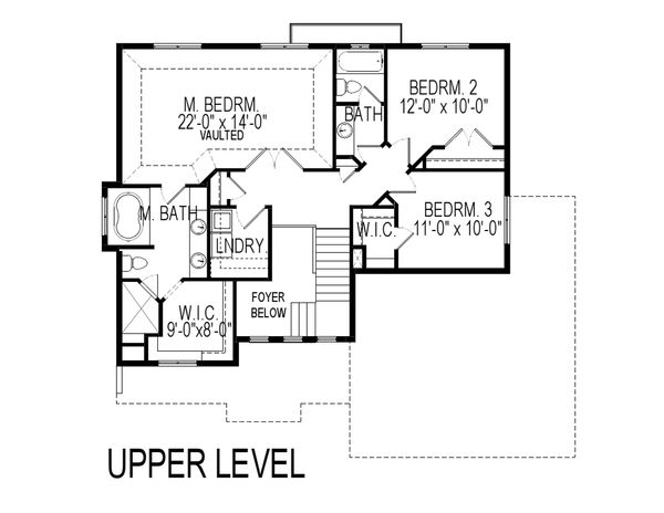 Traditional Floor Plan - Upper Floor Plan Plan #920-27