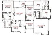 European Style House Plan - 4 Beds 3.5 Baths 2731 Sq/Ft Plan #63-302 Floor Plan - Main Floor Plan
