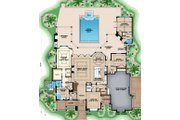 Country Style House Plan - 5 Beds 5.5 Baths 7531 Sq/Ft Plan #27-547 Floor Plan - Main Floor Plan