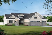 Architectural House Design - Traditional Exterior - Front Elevation Plan #20-1761