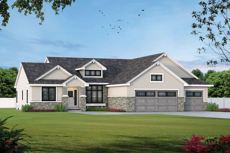 Home Plan - Traditional Exterior - Front Elevation Plan #20-1761