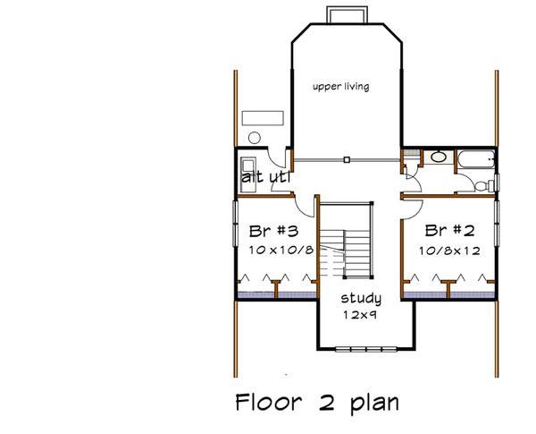 Craftsman Floor Plan - Upper Floor Plan #79-259