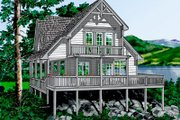 Country Style House Plan - 2 Beds 2 Baths 1333 Sq/Ft Plan #118-106 Photo