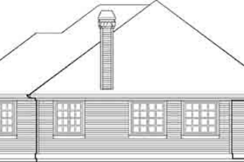 Traditional Exterior - Rear Elevation Plan #48-203 - Houseplans.com
