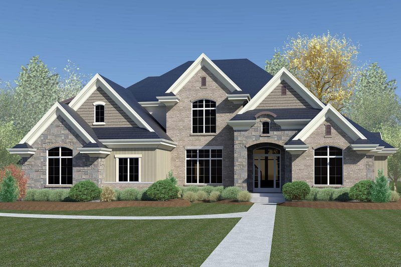 Traditional Style House Plan - 8 Beds 4 Baths 6264 Sq/Ft Plan #920-44 Exterior - Front Elevation